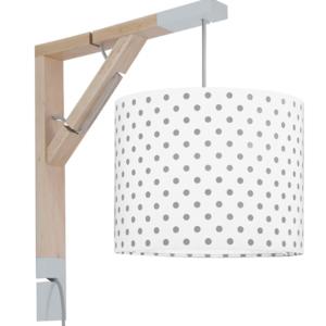 Lampa ścienna Simple szare groszki
