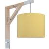 Lampa ścienna Simple musztarda
