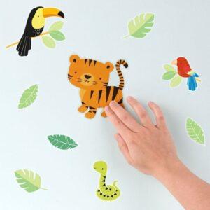 Naklejki na ścianę wesoły tygrysek