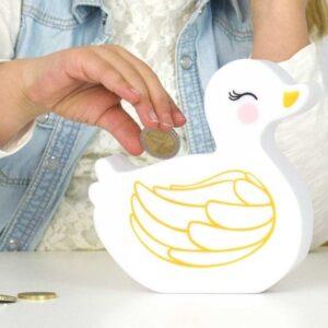 Skarbonka dla dziecka kaczuszka