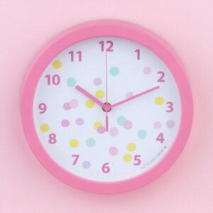 Zegar dla dziecka confetti