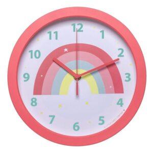 Zegar dla dziecka tęcza