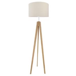 Lampa podłogowa ciepły beżowy