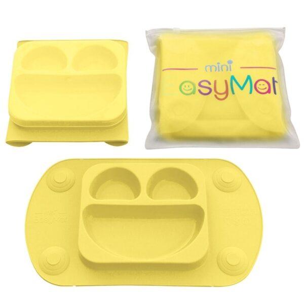 Silikonowy talerzyk z podkładką Yellow