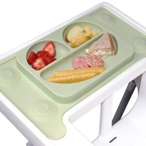 Silikonowy talerzyk z podkładką Olive