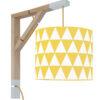 Lampa ścienna Simple żółte trójkąty