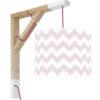 Lampa ścienna Simple chevron różowy