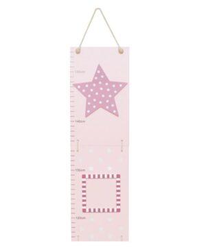 Miarka wzrostu różowa gwiazdka