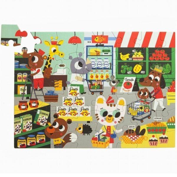 Puzzle dla dzieci Zwierzęta w supermarkecie