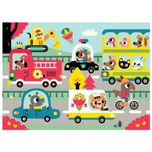 Puzzle dla dzieci Zwierzęta w mieście