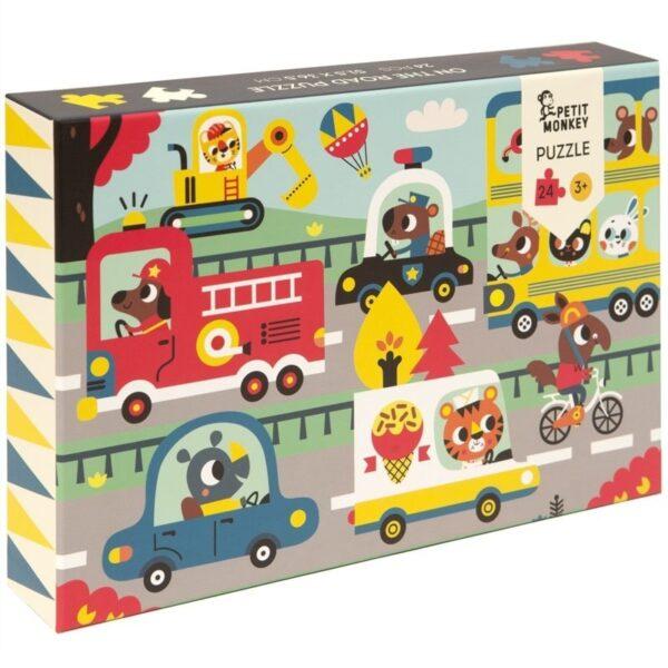 Puzzle dla dzieci Zwierzęta w drodze