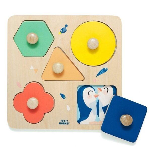 Puzzle dla dzieci drewniane ZOO