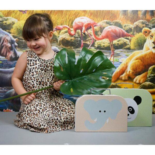 Walizka dla dzieci panda i słoń