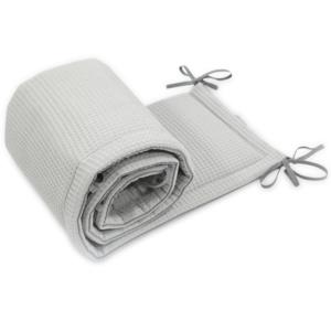 Ochraniacz do łóżeczka Cottonwaffel Grey