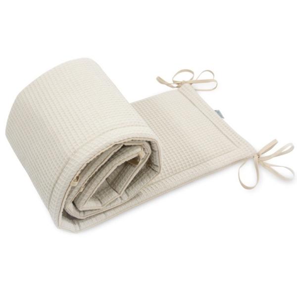 Ochraniacz do łóżeczka Cottonwaffel Beige