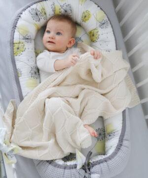 IMG 9041 2 300x360 - Kokon niemowlęcy Cottonwaffel Sunny Day