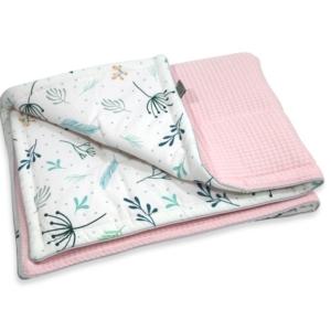 Kocyk Cottonwaffel Pastel Springs& Pink75x100
