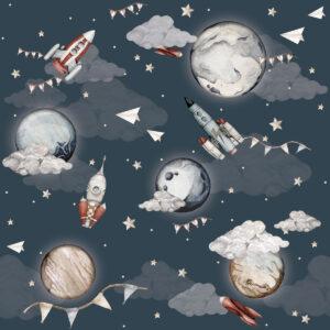 Tapeta dla dzieci magiczny kosmos
