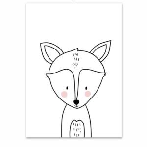 Plakat na ścianę Lisek Cartoon Animals