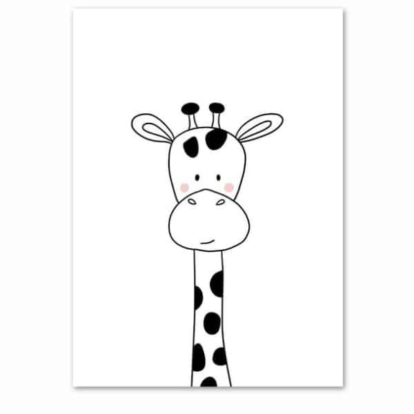 Plakat na ścianę Ĺ»yrafa Cartoon Animals
