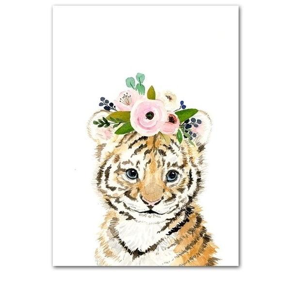 Plakat na ścianę Tygrysek z wianuszkiem