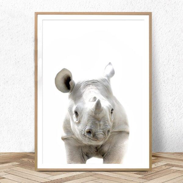 Plakat na ścianę Small Rhinoceros