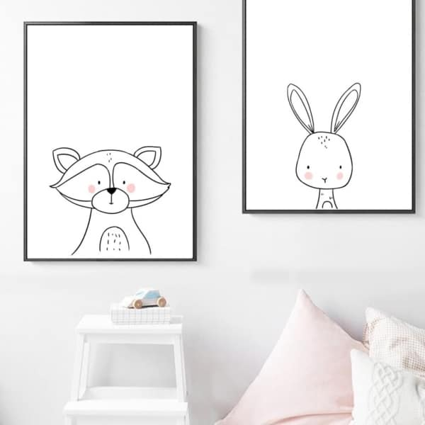 Plakat na ścianę Szop Cartoon Animals
