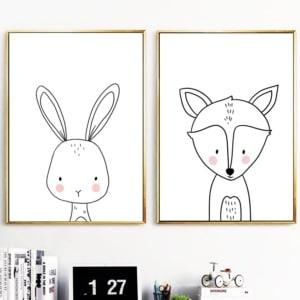 HTB1iQAUXEOWBKNjSZKzq6xfWFXa0 300x300 - Plakat na ścianę Lisek Cartoon Animals