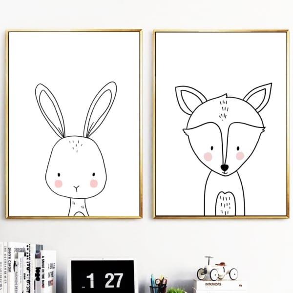 HTB1iQAUXEOWBKNjSZKzq6xfWFXa0 600x600 - Plakat na ścianę Lisek Cartoon Animals