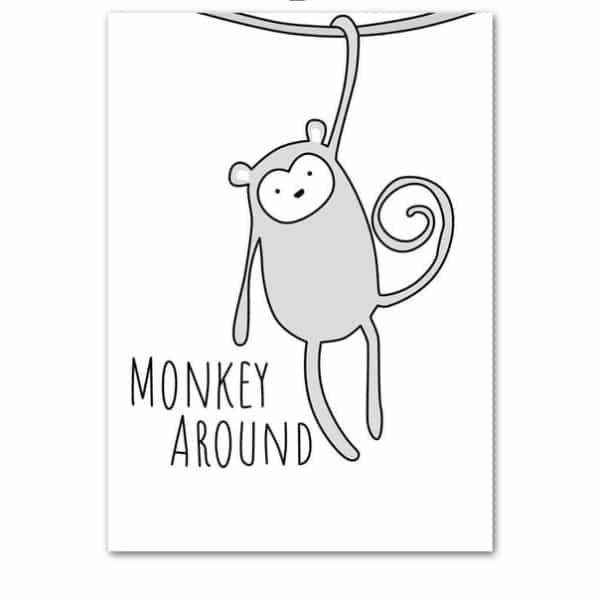 Plakat na ścianę Monkey monochrome