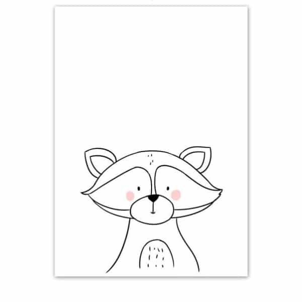 Plakat na ścianę Szop Cartoon Animals
