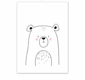 Plakat na ścianę Miś Cartoon Animals