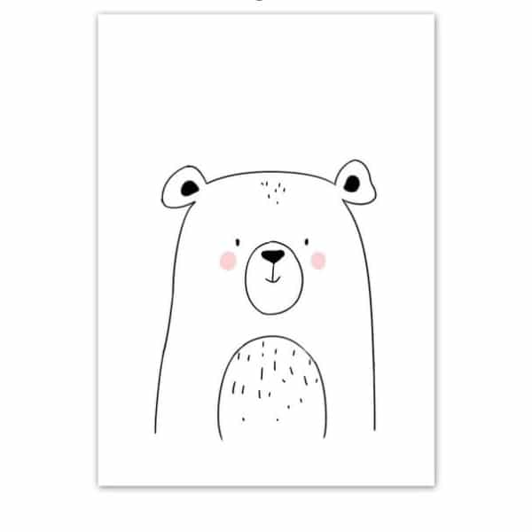 Plakat na ścianę Miś Cartoon Animals