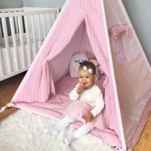 Namiot dla dzieci tipi Malmo róż