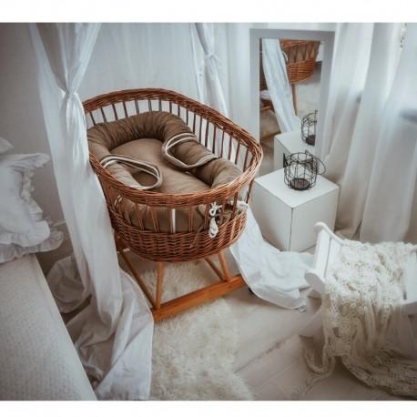 hi little one kokon gniazdko dla noworodka z oddychajacego muslinu newborn nest beige 3 - Kokon dla niemowlaka Emerald