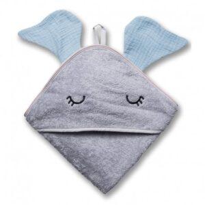 Ręcznik dla dziecka Elephant Baby Blue