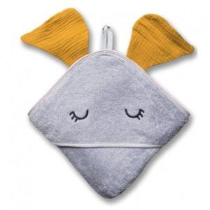 Ręcznik dla dziecka Elephant Mustard