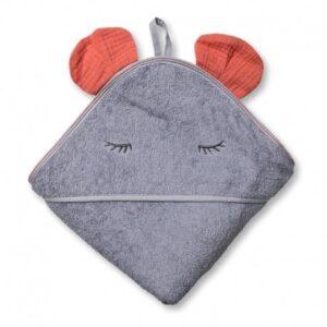 Ręcznik dla dziecka Mouse Salmon