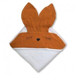 Ręcznik dla dziecka Sleepy Bunny Apricot