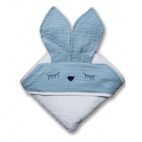 Ręcznik dla dziecka Sleepy Bunny Baby Blue