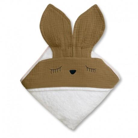 Ręcznik dla dziecka Sleepy Bunny Dark Oak
