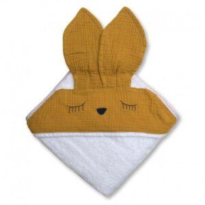 Ręcznik dla dziecka Sleepy Bunny Mustard