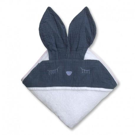 Ręcznik dla dziecka Sleepy Bunny Navy