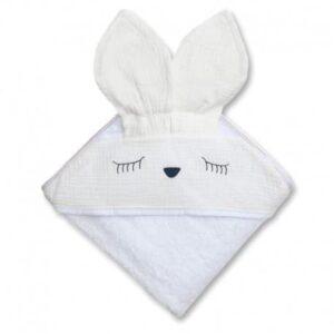 Ręcznik dla dziecka sleepy bunny white