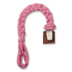 Zawieszka do smoczka warkoczyk Pink