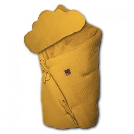 Pościel niemowlęca z poduszką Mustard
