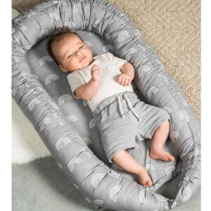 Kokon dla niemowlaka Tiger Rainbow grey