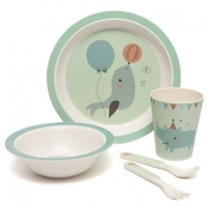 Zestaw do jedzenia dla dzieci Animal Mint