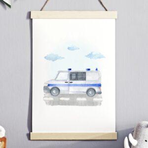 Plakat na ścianę Policja