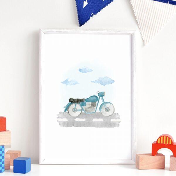 Plakat na ścianę Motocykl